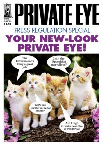 This week's Private Eye cover makes its view of the Royal Charter clear.